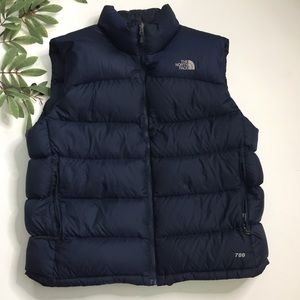 The North Face 700 Navy Blue Puffer Down Vest XL